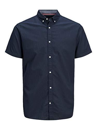 JACK & JONES Male Kurzarmhemd Button-Down MNavy Blazer