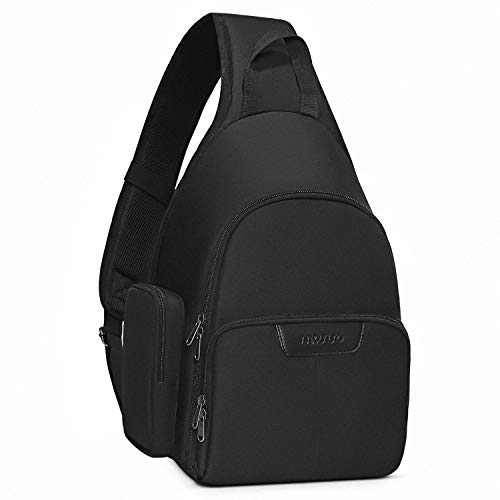 MOSISO Camera Sling Bag Backpack, Water Repellent Full Open Camera Case with Tripod Holder&Rain Cover&Modular Insert for DSLR/SLR/Mirrorless Camera Compatible with Canon/Nikon/Sony/Fuji, Black