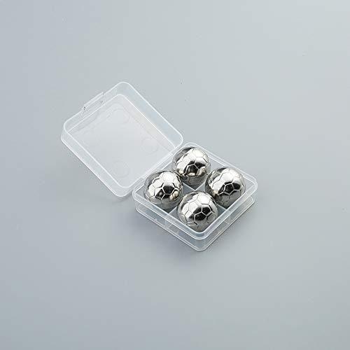 THUMBGEEK Juego de cubitos de hielo de acero inoxidable 304, reutilizables, para hielo, hockey, vino, cócteles, cerveza, whisky, enfriador de fiesta (4)