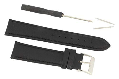 Eichmüller Uhrenarmband 20mm Leder in schwarz für Damen und Herren