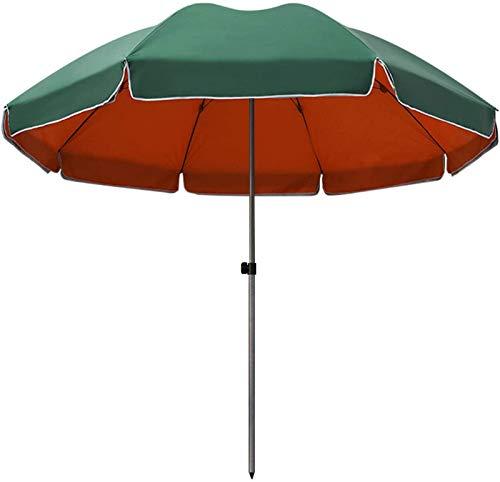WQF Sombrilla de jardín Sombrilla para Mesa Sombrilla de Patio, Sombrilla Sombrilla de Playa Portátil Impermeable Protección UV Paraguas al Aire Libre 240cm / 7.9ft con Cubierta de sombrill,Sin pies