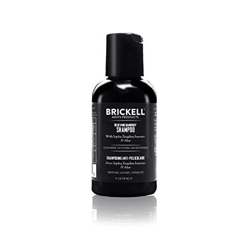 Brickell Men's Champú anticaspa para hombres, natural y orgánico, calma y elimina la caspa con Ziziphus Joazeiro, aloe y aceite de jojoba