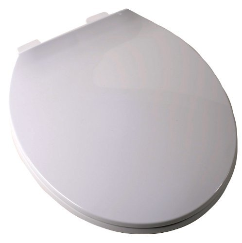 Plum Best C3B3R3-00 Round Contemporary Toilet Seat, White by PlumBest