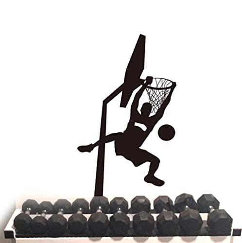 ZZFGXX Pegatinas De Pared,Vinilo Decorativo Jugador Baloncesto Dunk 70x56cm Adecuado Para Pegatinas De Pared De DecoracióN Del Hogar De Dormitorio Y Sala De Estar