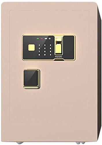 ZHUYUE Safe 60cm Hoge Vingerafdruk Elektronisch Wachtwoord Alle Staal Wandmontage Kledingkast Anti-diefstal Kleine Huishoudelijke nachtkastje Safe (Kleur : Goud, Maat : 60x34x40cm)