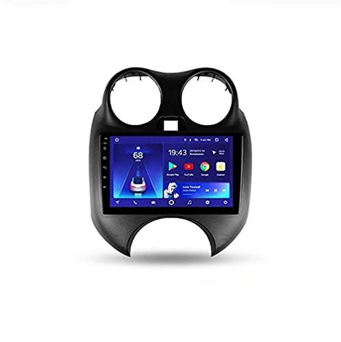 YIJIAREN Radio GPS Navegación para Nissan March K13 2010-2013, Pantalla táctil 2.5D Android 10.0 Coche Estéreo Sat Nav Soporte de Control del Volante BT Mirror-Link 4G WiFi