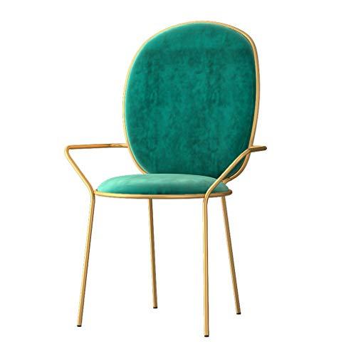 Dining Chair Hermosa silla simple escritorio de estudiante y silla de maquillaje taburete de ordenador para volver a casa fuerte (color verde oliva)