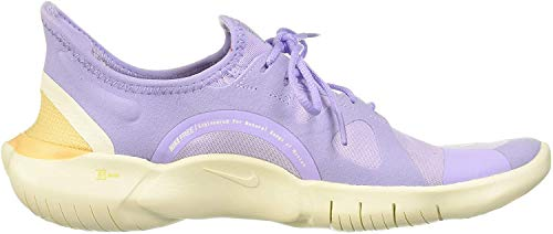 Nike Damen WMNS Free Rn 5.0 Traillaufschuhe, Mehrfarbig lila Achat-helles Elfenbein-Himmelsgold 500, 44/45 EU