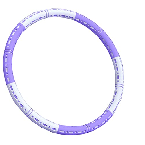 Fitness exercise ring, thicker stainless steel, thicker gao adjustable fitness ring, adult and home exercise, for weight loss, fitness (Color : Purple white)