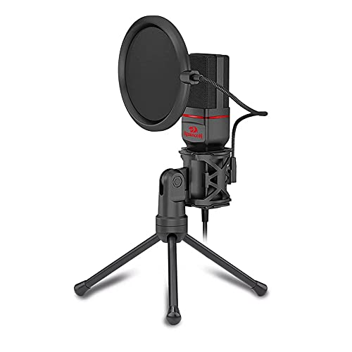 Redragon Seyfert GM100 Professional Gaming Microphone with Pop Filter (3.5mm Connection)