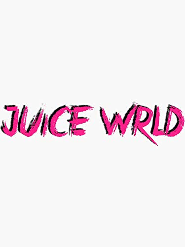 Juice WRLD Logo Pink Sticker - Sticker Graphic -Stickers for Hydroflask Water Bottles Laptop Computer Skateboard, Waterproof Decal Stickers