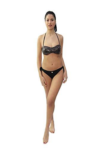 Emporio Armani Bikini Donna Modello a Fascia preformata Con paillets.Slip SGAMBATO Con fiocchi S