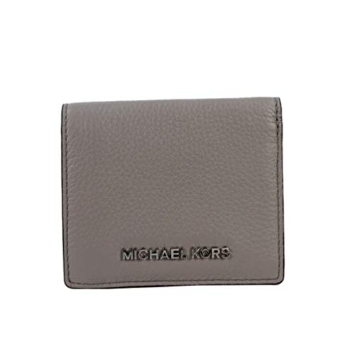 Michael Kors Jet Set Travel Leather Compact Carryall Card Case Pearl Grey