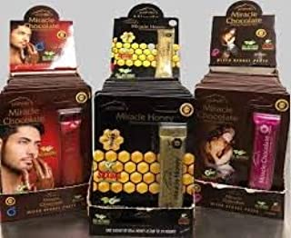 SUPER COMBO MIRACLE SUPER Honey AND CHOCOLATE for HIS And HERS 3 SACHETS (And) 1bottle Love Potion 5000 Platinum - Sexual Enhancement Plus Love Potion Pen