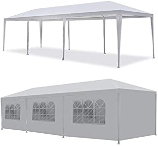 Gaier 10` x 30` Party Tent Waterproof Gazebo Outdoor Canopy Tent for Party Wedding Waterproof with Removable Sidewalls