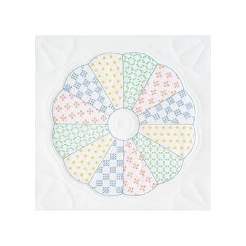 """732 332 Jack Dempsey Stamped White Quilt Blocks 18/""""X18/"""" 6//Pkg-Kaleidoscope Star"""