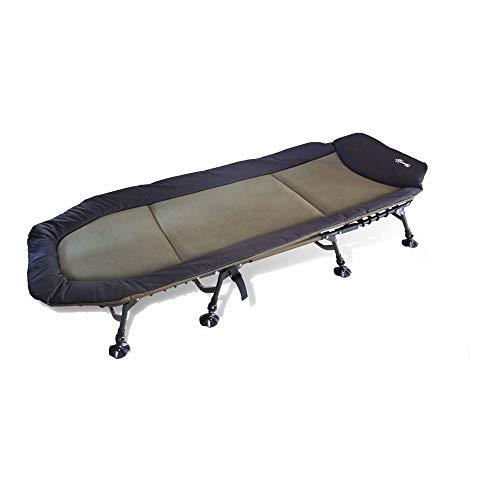 CarpOn 8-Bein XXL 5 Season Angelliege Karpfenliege Liege Camping Bed Outdoor Bett Camping 208 cm Lang belastbar 170 KG