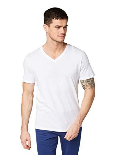 TOM TAILOR Herren T-Shirts/Tops T-Shirt im Doppelpack White,L