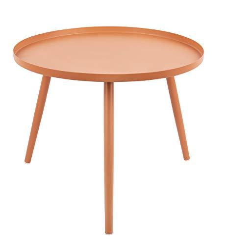 Present Time - Table Basse métal Marron Caramel Elle Ø50 cm