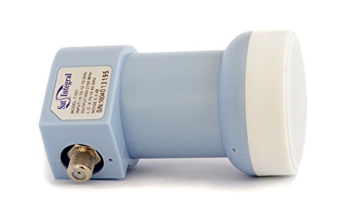 LNB SatIntegral T-001 - Convertidor de señal satélite Universal LNB (40 mm) Single - una Salida, KU Band (Full HD, 4K, 3D Ready, 0.3dB)