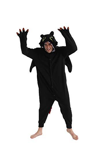 dressfan Onesie Adulto Unisex Animal Dragon Combinación Disfraz Cosplay Halloween Pijamas Navidad
