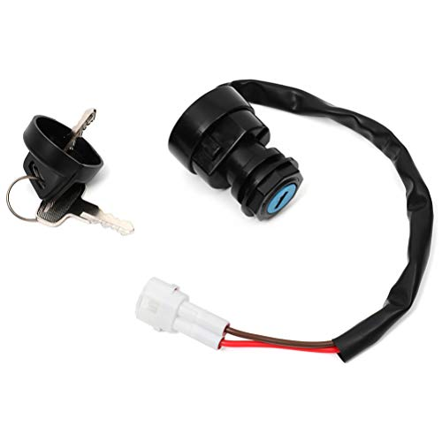 OCPTY 2 Pins connector Ignition Switch with Key for Yamaha Raptor 125 250 350 660R 700 electric atv Ignition Switch w/Keys