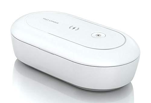 Multifunctionele mini draagbare 10W Fast Charge mobiele telefoon opladen Sanitizer Box UV-licht sterilisator Draadloze oplader Geschikt voor Apple Android-telefoon