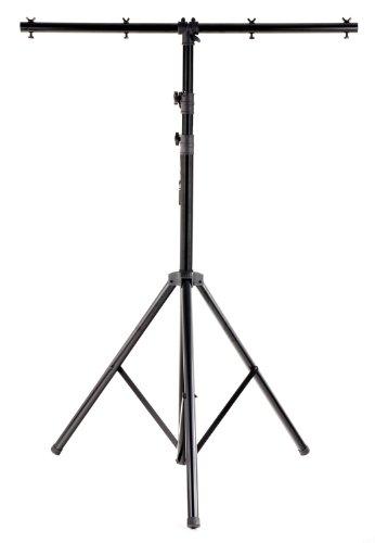 Showlite LS325 Lichtstativ mit Quertraverse (für Bühnen & Konzerbeleuchtung, für bis zu 4 Scheinwerfer, 1,45m-3,25m, max. Traglast: 50 kg)