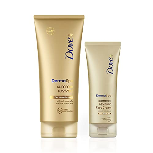 Dove Derma Spa Body Lotion Summer Revived Fair to Medium, 200ml with Dove...