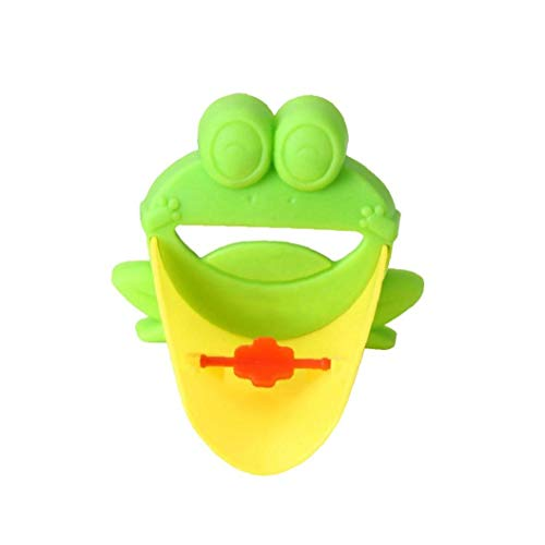 Toque Niños Extender Agua Del Grifo Lavado De Manos Boquilla Fregadero Verde Del Ayudante Cartoonfrog En Forma De Niño Del Baño Cocina Casa Y Jardín Accesorios