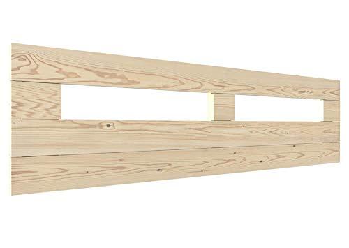 LA WEB DEL COLCHON - Cabecero de Madera Rústico Toscana para Cama de 150 (160 x 44 cms.) Barnizado Natural | Cabeceros Madera | Dormitorio Matrimonio | Cabezal Cama |Estilo nórdico