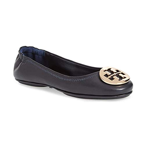Tory Burch Minnie Travel Ballet Flat Shoes - Perfect Navy (8)