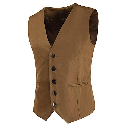Chaleco de traje de los hombres Slim Fit Color sólido