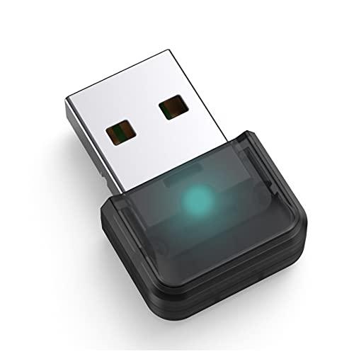 JeoPoom Adaptador Bluetooth 5.0, USB Dongle Bluetooth USB Transmisor y Receptor para Portátil, Auriculares, Altavoces, Teclado, Compatible con Windows 10/8.1/8/7