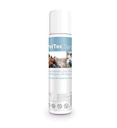 PetTec Nachfüllspray für Hunde Sprühhalsband *Made in Germany* Zitronenspray/Neutral (Effekt: Wasserspritze), kompatibel mit Sprayhalsband, Innotek, Petsafe, DogTrace, 75ml (1er/3er)