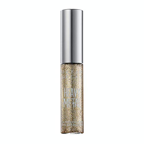 Urban Decay Heavy Metal Glitter Eyeliner, Midnight Cowboy - Gold Glitter - Water-Based Formula - Long-Lasting, Buildable, Quick Drying