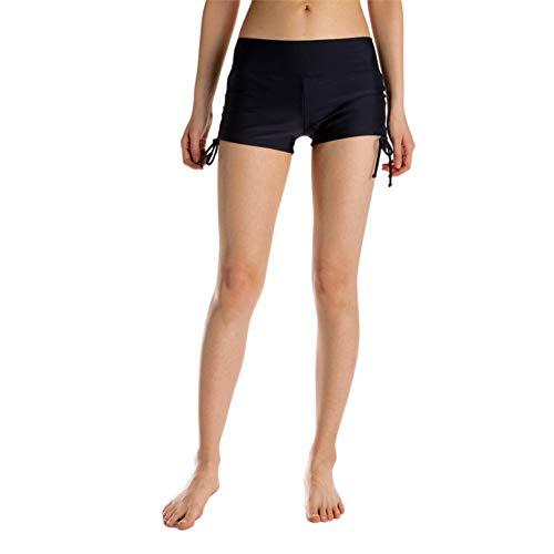 HX fashion Damen Männer Dchen Strand Shorts Kurze Badeshorts Badehose Bunte Bequeme Größen Schnelltrockende Beachshorts Für Frauen In Kleidung M Blaue Feder (Color : Schwarz, Size : M)