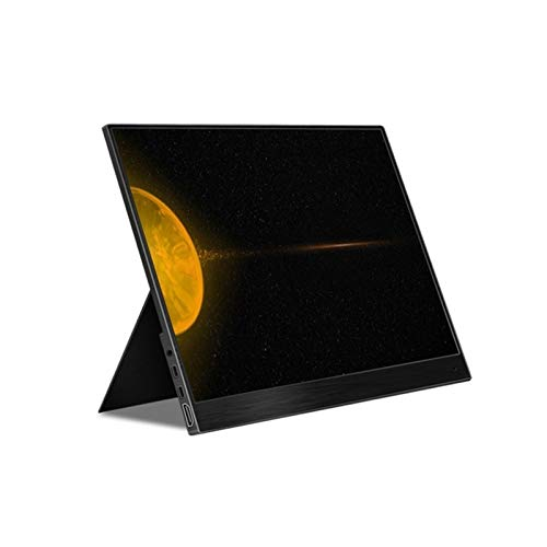 GFHJ1201 Monitor portátil de 14 Pulgadas, Pantalla táctil de 1920 × 1080 HDR IPS con HDMI Type-C, Altavoces incorporados Proyector de Monitor Externo portátil (Color : Black)