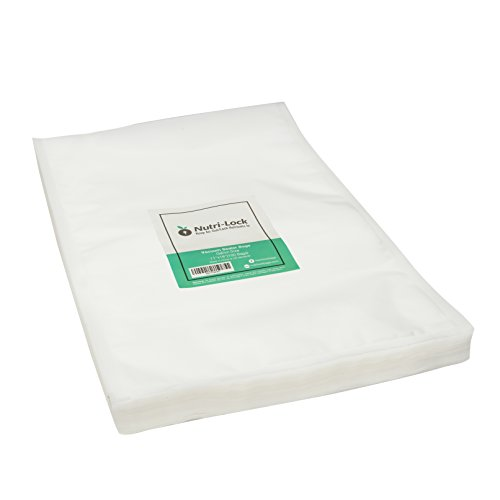 Nutri-Lock Vacuum Sealer Bags. 100 Gallon Bags 11x16 Inch. Commercial Grade Food Saver Bags. BPA Free. Perfect for Sous Vide. Works with FoodSaver.