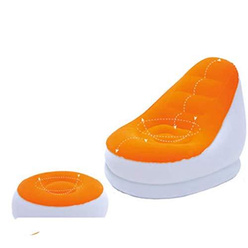 LQH Orange aufblasbares Sofa, Fußbank Innen Wohnzimmer Schlafzimmer aufblasbares Stuhl Folding aufblasbarer Stuhl Büro Mittagspause Lehnstuhl (Farbe: A, Größe: 122 * 82 * 94cm)