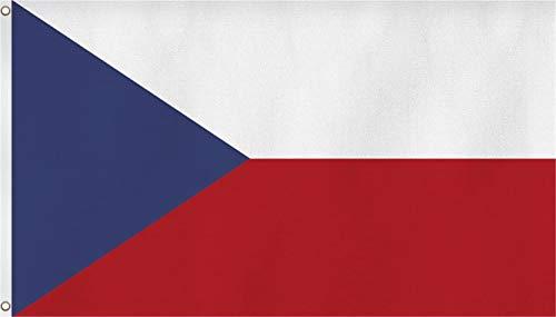 normani Flagge - Fahne - Hissfahne mit Zwei Metallösen zur Befestigung und zum Hissen - Größe 90 x 150 cm wetterfest Farbe Tschechische Republik