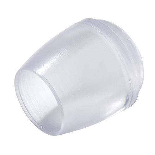 Adsamm® | 16 x Stuhlbeinkappen | Ø 12 mm | Transparent | rund | Möbelgleiter für Stahlrohrstühle