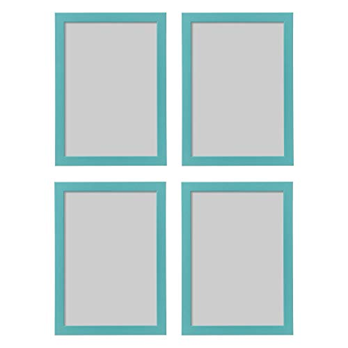 Ikea Fishbo Bilderrahmen, A4, 21 x 30 cm, Blau/Türkis, 4 Stück