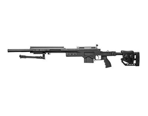 fucile softair manuale - uzza pallini di plastico 6mm viene fornito con un bipiede Campo di tiro: 40 m maggiore precisione grazie al sistema hop-up regolabile Longuezza : 120 cm- Peso: 4100 g