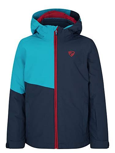 Ziener Jungen ABIAN Junior Kinder Skijacke, Winterjacke   Wasserdicht, Winddicht, Warm, Carribean, 152