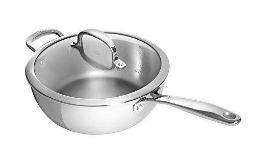 OXO Good Grips Tri-Ply Stainless Steel Pro 3.5QT Covered Saucepan (Renewed)