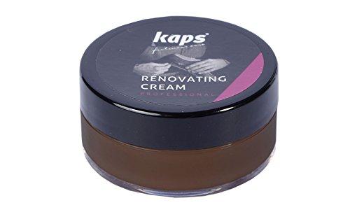 Kaps Reparaturcreme für Schuhe, Taschen, Sitze aus Glattleder, Kratz- und Abnutzungsschutz, Renovating Cream, 10 Farben (106 - dunkelbraun)