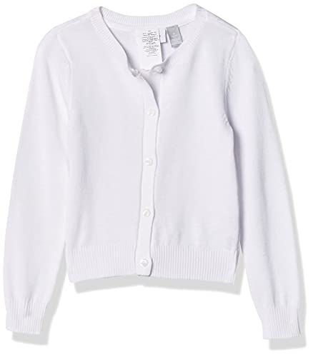 The Children's Place Girls' Uniform Cardigan White XL (14)