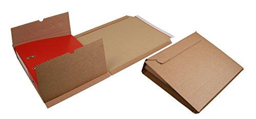 Ordnerversandverpackung aus Wellpappe mit Selbstklebeverschluss und Aufreissfaden,Din A4, 320x290x35-80mm (PS.310) (25)
