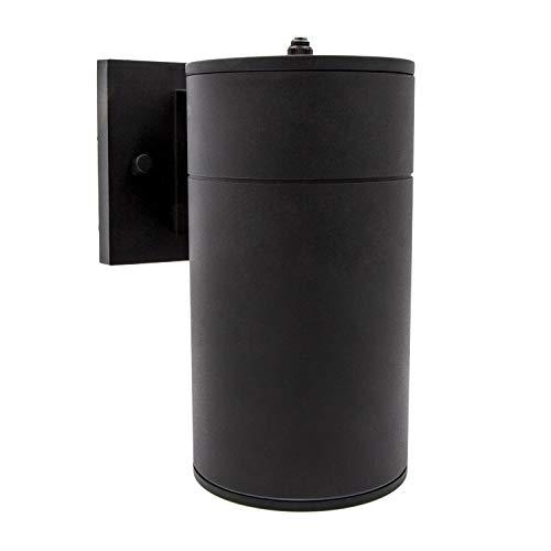 Maxxima LED Cylinder Outdoor Wall Wash, Sconce Light, 12 Watt, 840 Lumens, 3000K Warm White, Dusk To Dawn Sensor, Wall Light